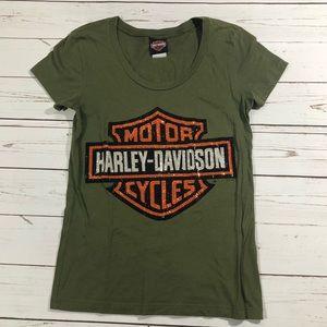 Harley Davidson Rhinestone Houston T Shirt